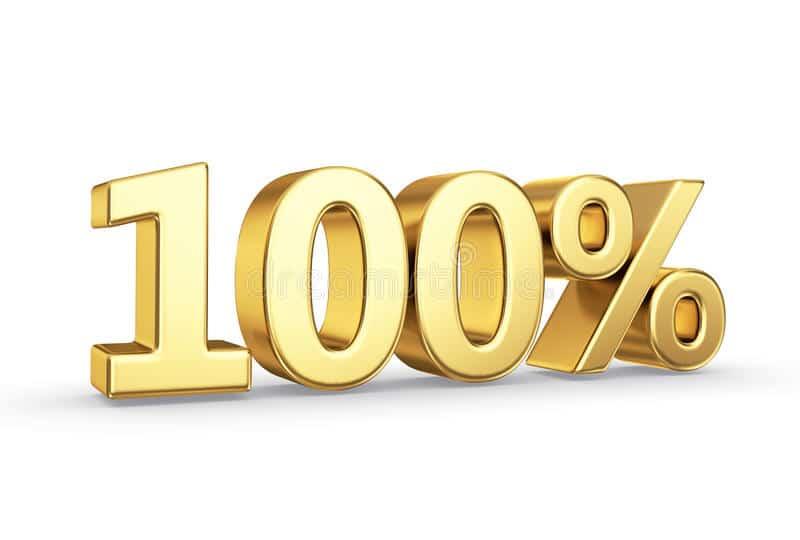 100% !